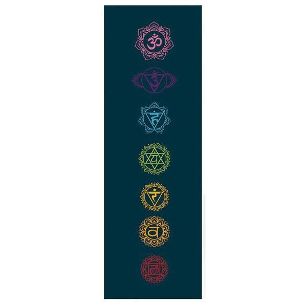 Tapis de yoga 7 chakras biodégradables - 3,5 mm