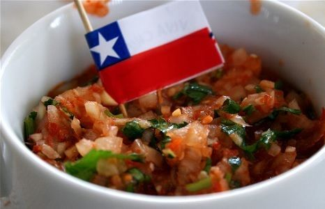 Traditional Chilean salsa recipe that's easy and delicious. This fresh salsa recipe is so yummy!