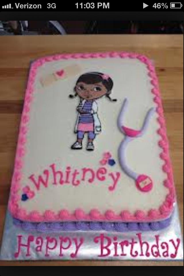 Doc Mcstuffins Cake @Jenn L Sedlock