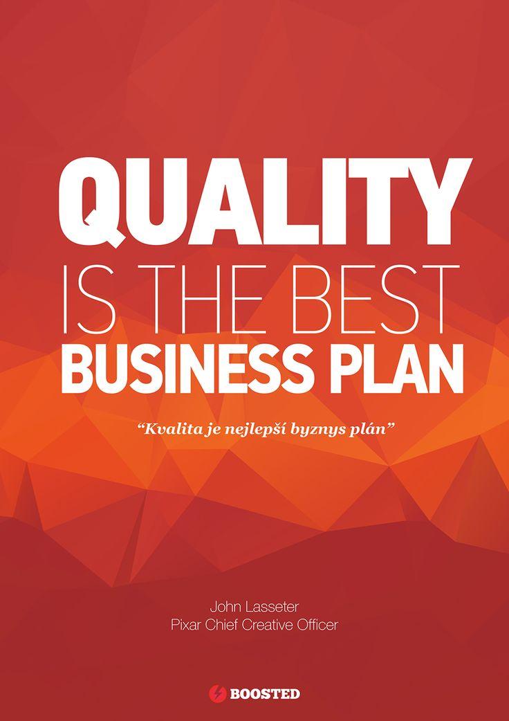 Motivační plakát Kvalita (Anglicky/Česky)