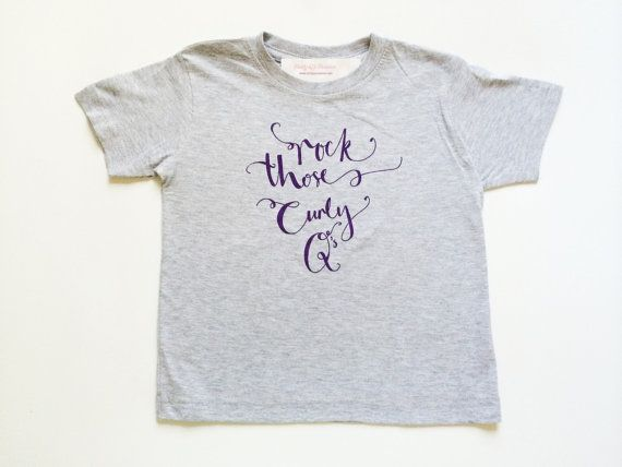 Rock Those Curly Qs Tee Shirt - Baby Tee Shirt - Baby T Shirt - Toddler T Shirt - Toddler Tee - Crewneck Shirt - First Day of School Tee