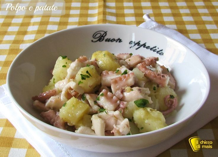 Polpo e patate, ricetta tradizionale. Ricetta della classica insalata di polpo e patate tiepida o fredda, con consigli per un polpo tenero e saporito