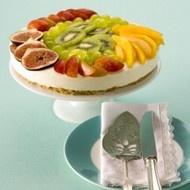 Kwarktaart met vers fruit