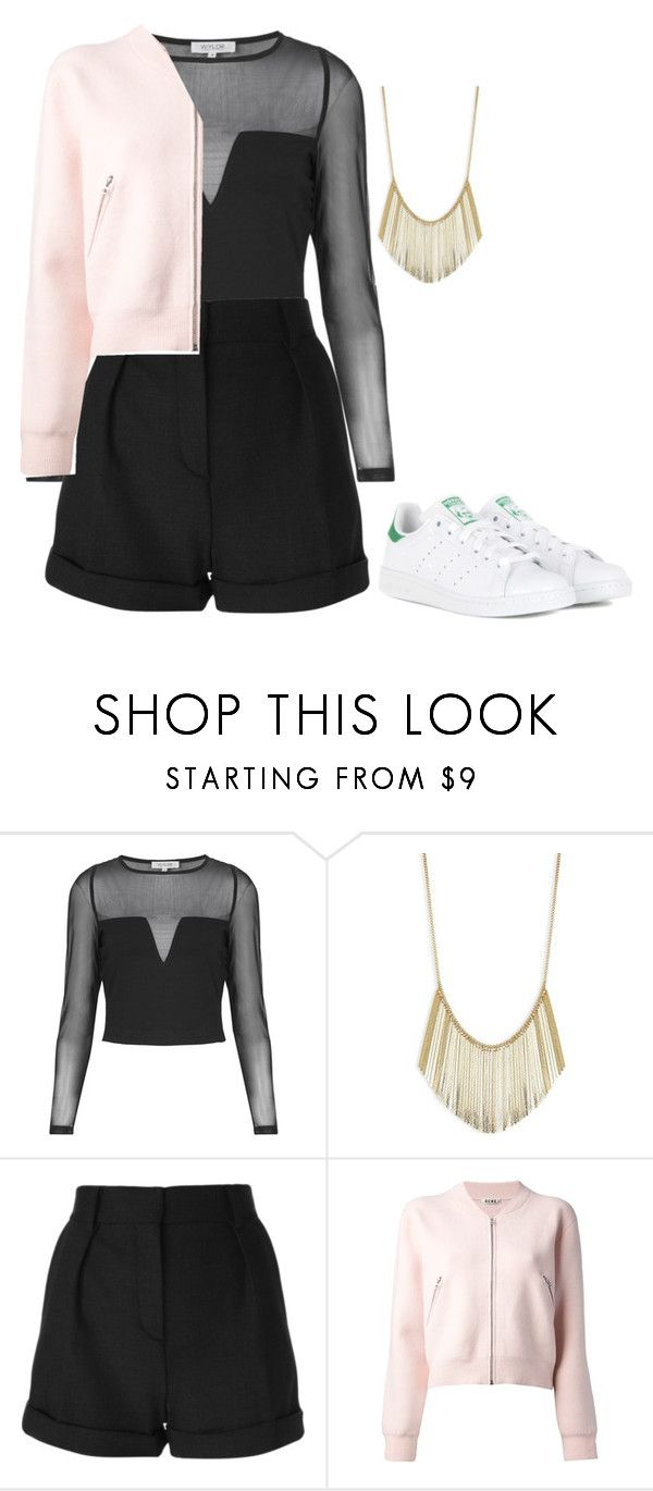 """""""Untitled #282"""" by madeleine-njk ❤ liked on Polyvore featuring Topshop, Robert Rose, IRO, Acne Studios and adidas"""