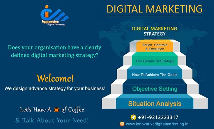 Does your organisation have a clearly defined digital marketing strategy?  Welcome to Innovative Digital Marketing, digital marketing company in delhi. We design advance strategy for your business.  Digital Marketing Strategy: • Situation Analysis • Objective Setting • How To Achieve The Goals • The Details of Strategy • Action, Controls & Execution  Call +91-9212223317 & Mail to punitidm@gmail.com for any query!  Visit https://www.innovativedigitalmarketing.in/ for more information.