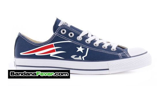 Converse Low Navy New England Patriots