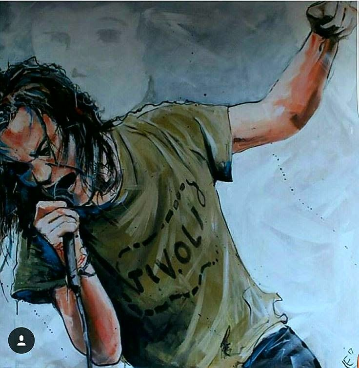 Dibujo Eddie Vedder Pearl Jam Eddie Vedder Cool Paintings
