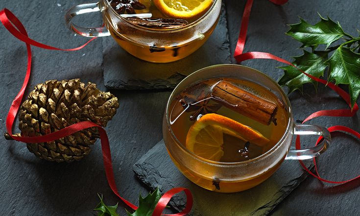 Mulled Apple Juice. A warming and spicy non-alcoholic alternative to mulled wine.