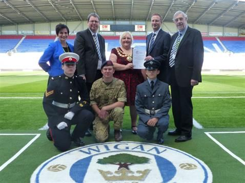 Wigan Athletic supports the Armed Forces!
