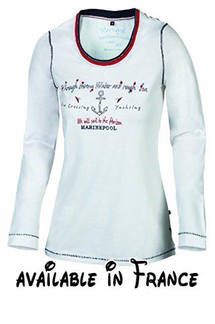 Marinepool Olivia T-shirt à manches longues pour femme Blanc Blanc Medium.  #Sports #SPORTING_GOODS