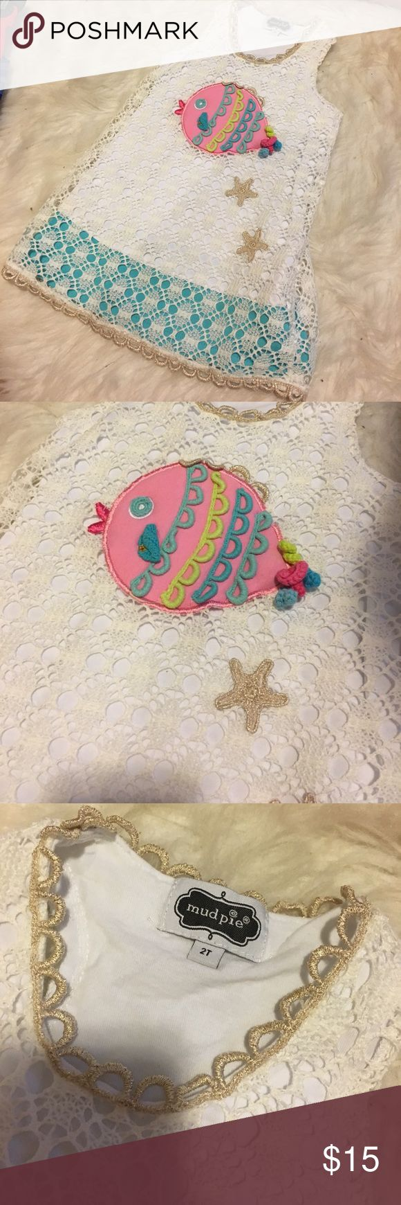 Mud Pie fish dress Crochet mud pie summer dress. Great condition Mud Pie Dresses Casual