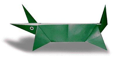 Origami Crocodile