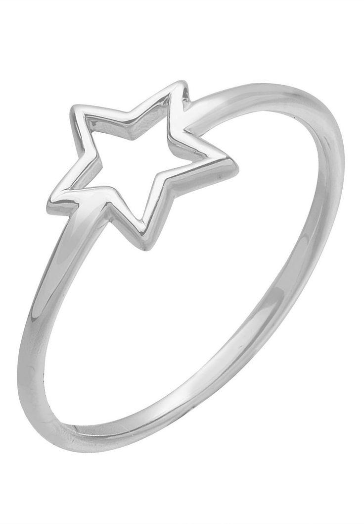 """Zierlicher Fingerring aus 925er Sterling Silber mit einem offenen Stern. Mit diesem niedlichen Keypiece kann man jemandem oder sich selbst eine strahlende Freude bereiten. Das filigrane Design fügt sich fabelhaft in jeden individuellen Look ein.  Weitere Hilfe zur Ringgröße:  Angegebene Größe in mm entspricht """"Ring Innen-Umfang"""", Umrechnung in """"Ring Durchmesser Ø"""" wie folgt:  52mm Umfang = 16,5..."""