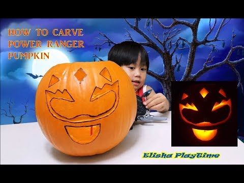 HOW TO CARVE POWER RANGER PUMPKIN FOR HALLOWEEN