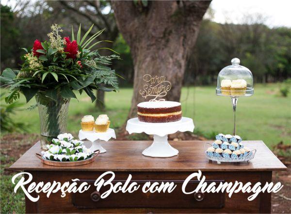 Fazer uma Recepção de Casamento com Bolo e Champagne é chique e barato! Então faça o download do eBook para saber o passo a passo de como organizar um brinde tão glamouroso! Contém cardápios e dicas de decoração! Produto gratuito.