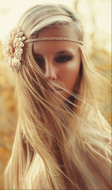 So wish I could pull off the hippie look like this!: Forehead Headband, Braids Hairstyles, Boho Chic, Hippie Headbands, Cute Headbands, Flower Headbands, Hair Makeup, Head Band, Hair Color