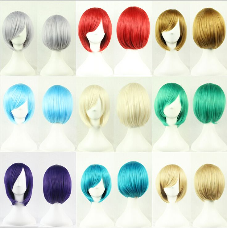$11.88 Cheap bobo wigs, Buy Quality cosplay wig directly from China wig straight Suppliers: 1PC Free shipping 25cm Short Wigs Straight Womens Nautral Cosplay Wig Full Panic Synthetic Green/Purple/Beige/Gray Bobo Wigs