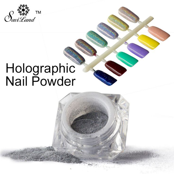 1 Box Rainbow Pigment Chrome Nail Powder Pigment 3D Nail Shining Glitters Hologram Rainbow Holographic Powder