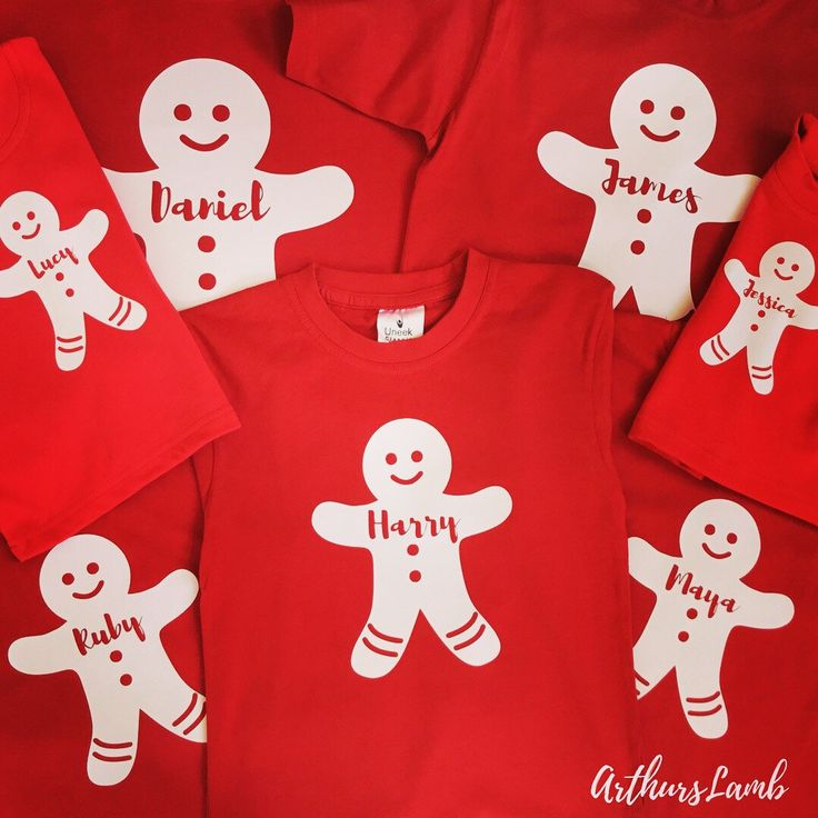 Personalised Gingerbread Man Family T-shirts What names would you have??