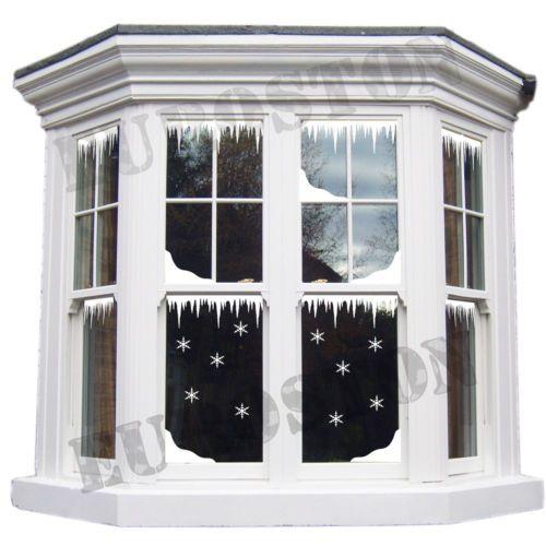 Adesivi-per-finestre-vetrine-natale-abbellire-decorare-con-fiocchi-di-neve-G