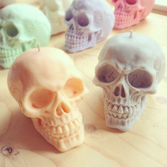 These skull candles will luminate their otherwise dark bedrooms. | 26 Gifts For The Emo In Your Life