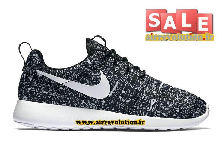 Nike Roshe One Print (PS), Chaussures de Sport Fille, Noir/Blanc/Violet/Vert (Noir/Blanc-Violet Hyper-Volt), 28 EU