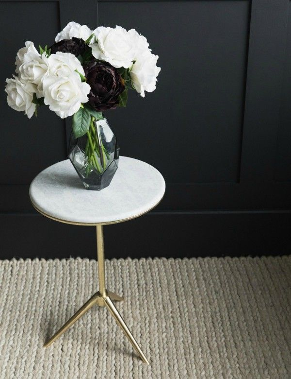 Daisy Marble & Brass Side Table