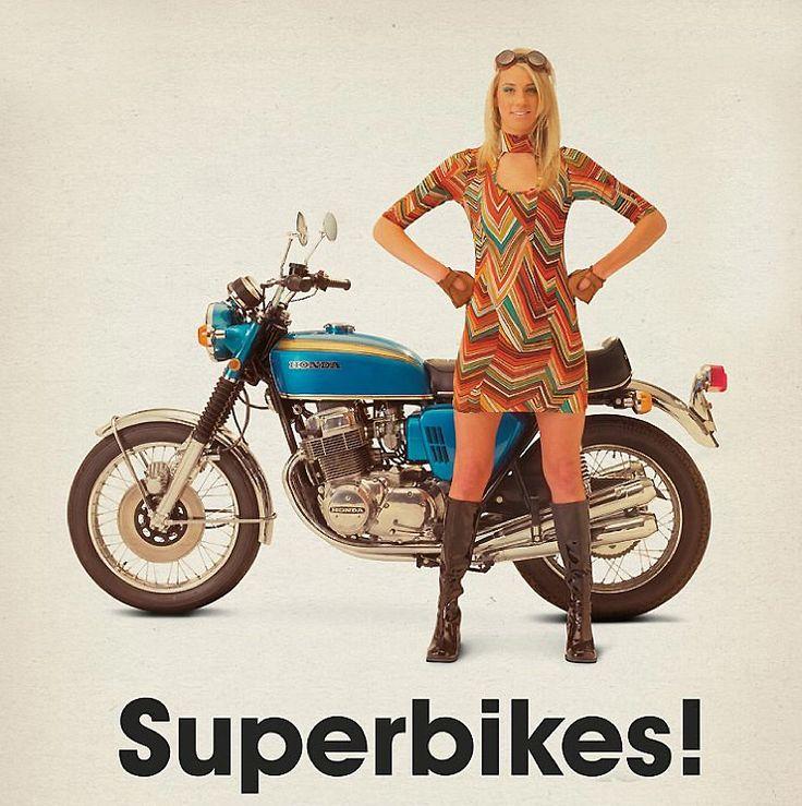 Retro Honda CB 750 Four With This Bike I Got My Card