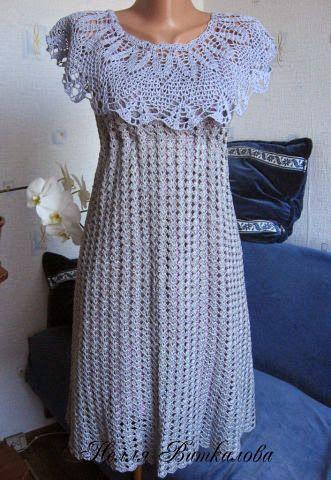 Irish crochet &: Летнее платье + пелерина