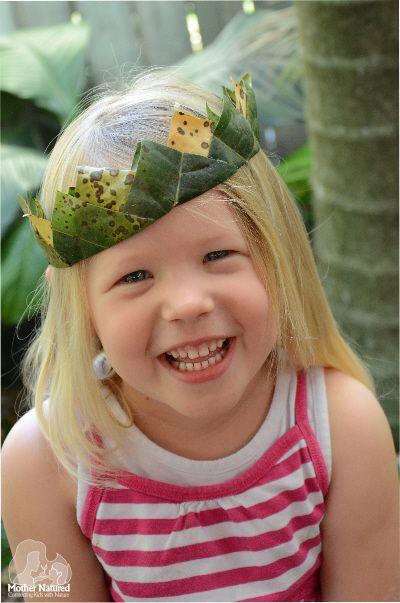 DIY Nature crown for Kids