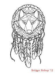 colour wolf dream catcher tattoo good artwork see more 23