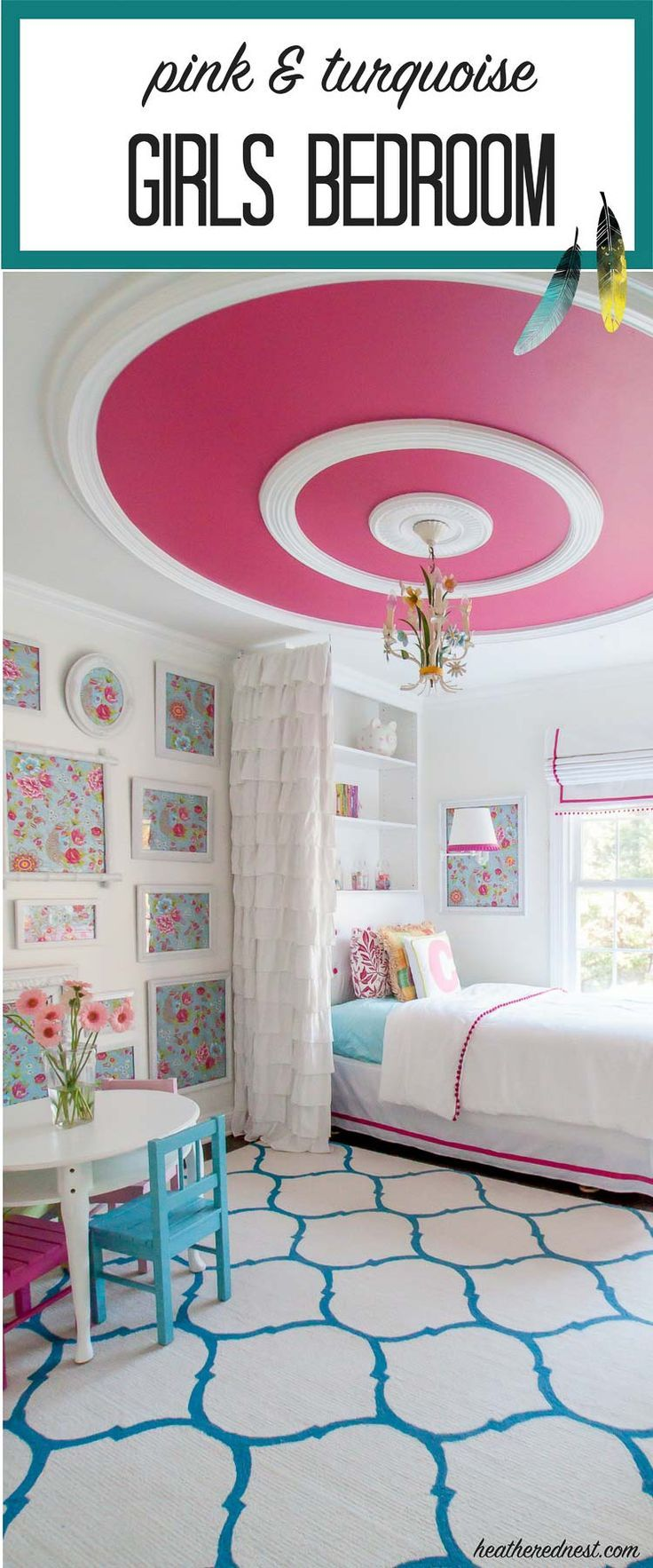 Ideas and inspiration for kids decorating with stuva petit amp small - Gorgeous Turquoise And Pink Bedroom Reveal From Http Heatherednest Com Love