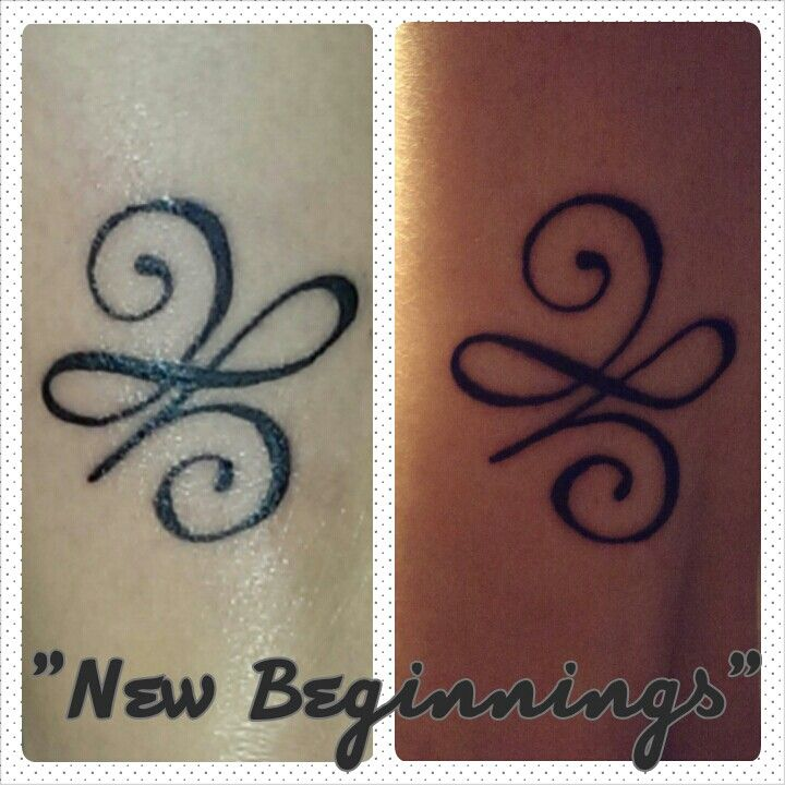 "Tattoo Ideas New Beginnings: My Daughter And I Got Matching Tattoos. It Means ""New"