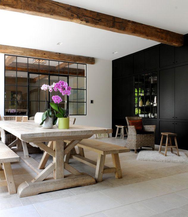 20 beste idee n over houten balken plafond op pinterest - Zwembad terras outs ...