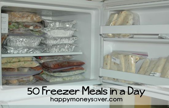 50 Freezer Meals - made in one day! Great recipes, making food everyone likes - even the kiddos!