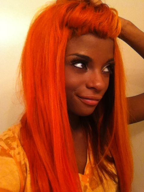 hair | Dark-Skinned Girls With Red Hair | Pinterest | Red Orange Hair ...