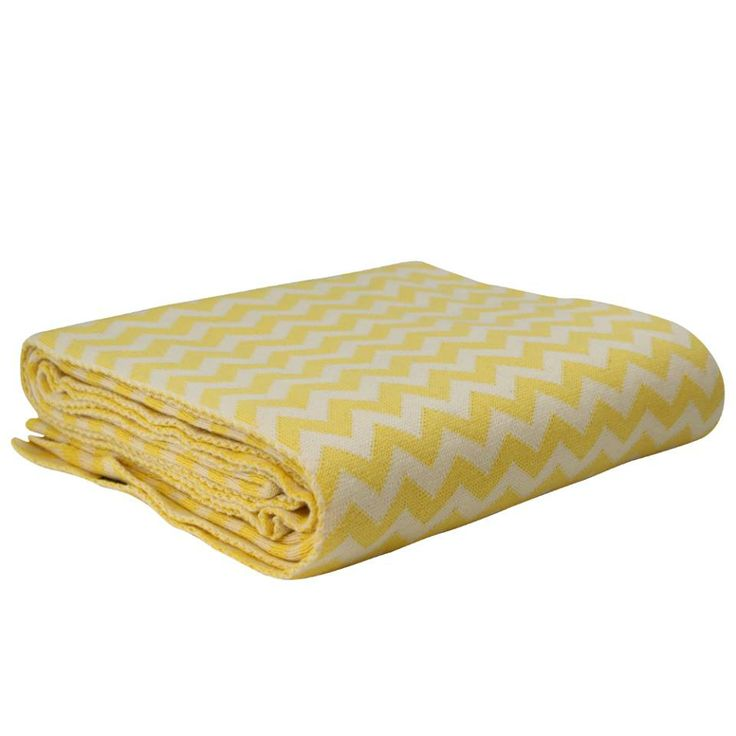 Yellow Chrevon Blanket