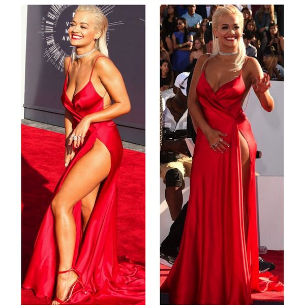Rita Ora agli MTV VMA, l'abito volgare e la manicure da 56k dollari
