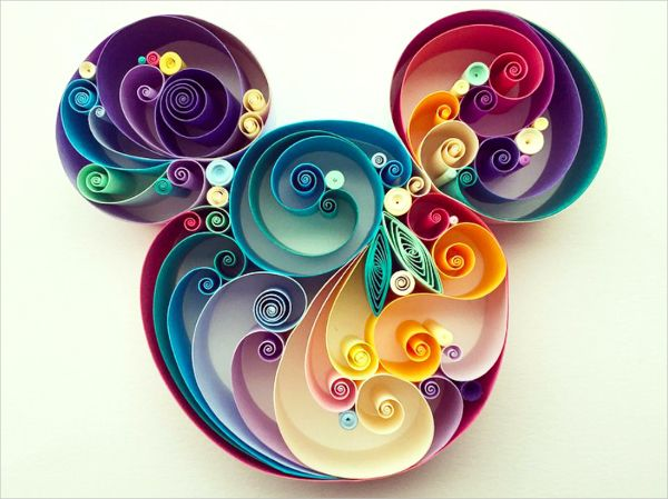 Of the many forms of paper art, Swirl Paper Art Quilling is one of the most popular and unique forms of paper art. Here in the above paper art, the artist has created a fantastic piece of art on twirl paper and has used vibrant colors which give it an amazing look.