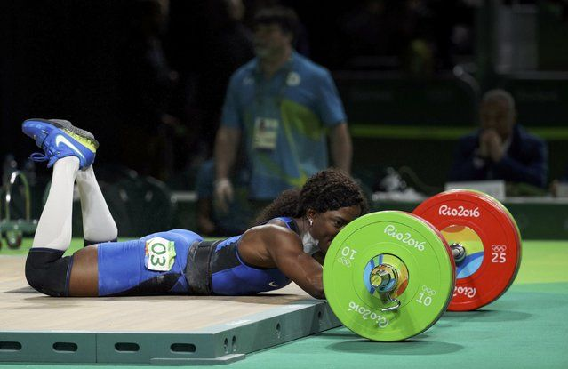 2016 Rio Olympics, Weightlifting, Final, Women's 75kg, Riocentro, Pavilion 2…