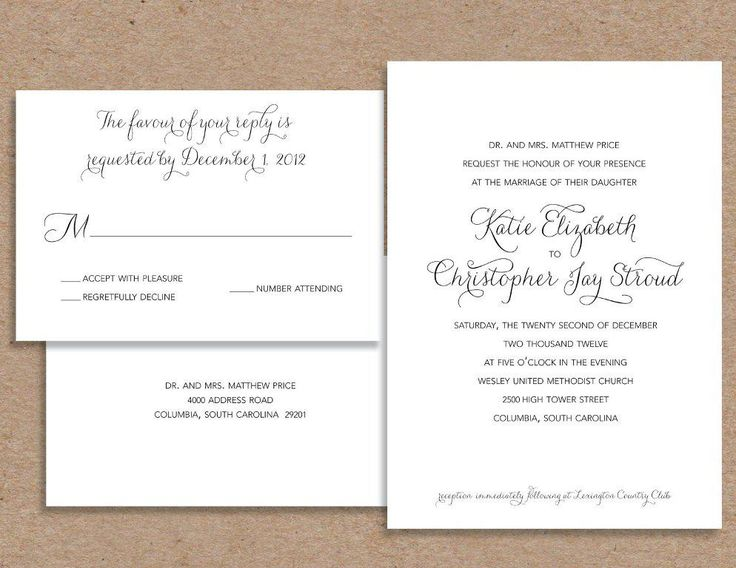 Wedding Invitation Wording Thrown By Couple Matik for