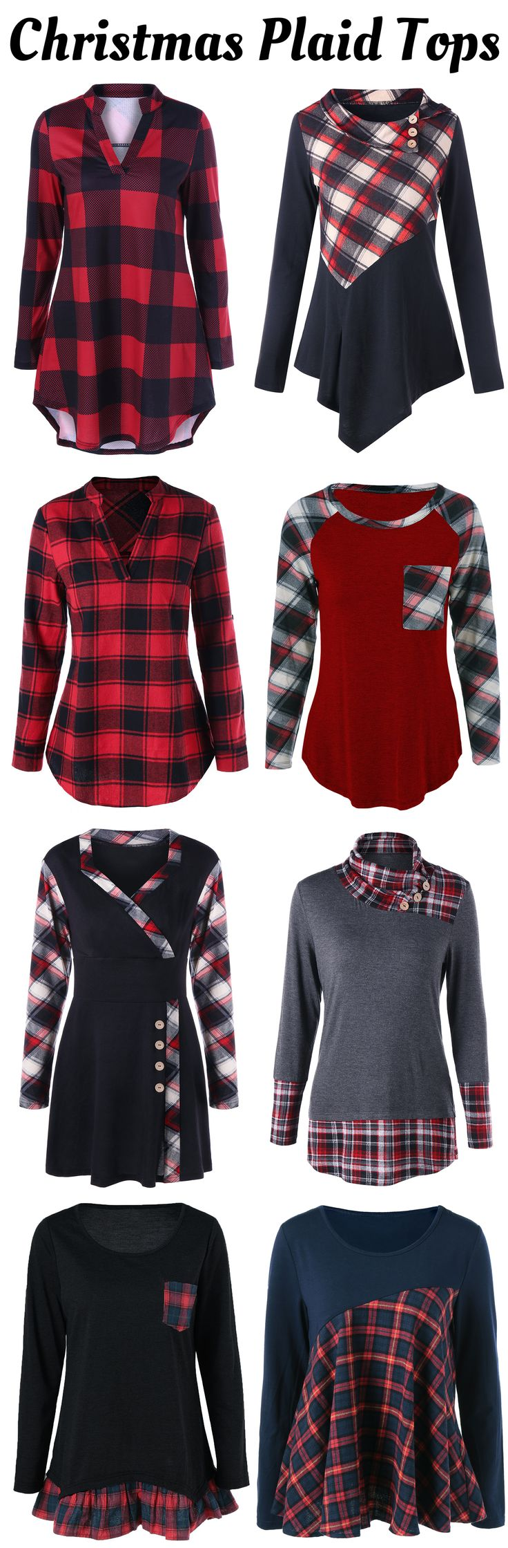Up to 80% off Plaid Blouses | Free Shipping | #christmas #plaid