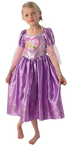 Karnevalsbud Madchen Karneval Kostum Kleid Love Hearts Rapunzel
