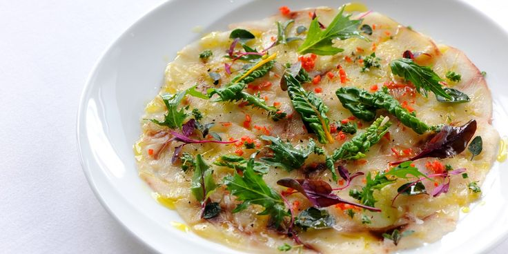 Sea bass is accented elegantly as a carpaccio in this delicious sea bass fillet recipe by Robert Thompson with chilli and oregano.