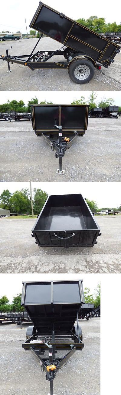 Other Yard Garden and Outdoor 159913: Hydraulic Dump Trailer 5X8 With Brakes 2 Ft. Sides -> BUY IT NOW ONLY: $2525 on eBay!
