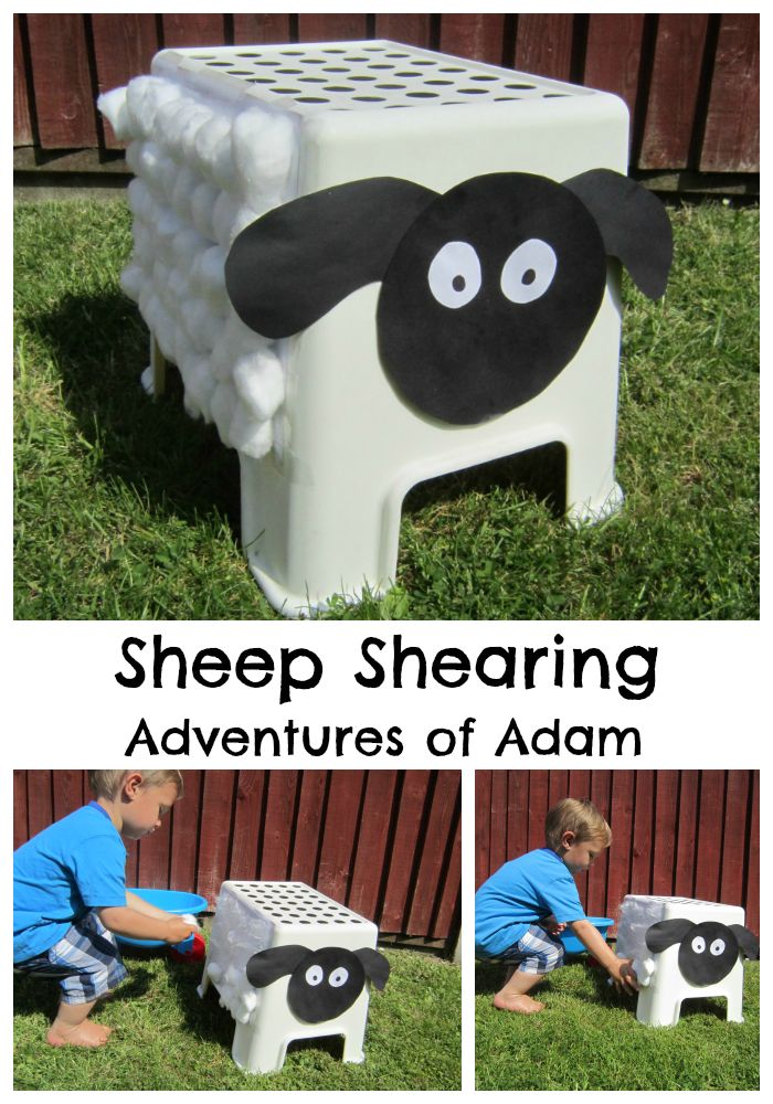 Sheep Shearing. An easy DIY activity to develop toddlers fine motor skills. Great for sheep fans | http://adventuresofadam.co.uk/sheep-shearing/