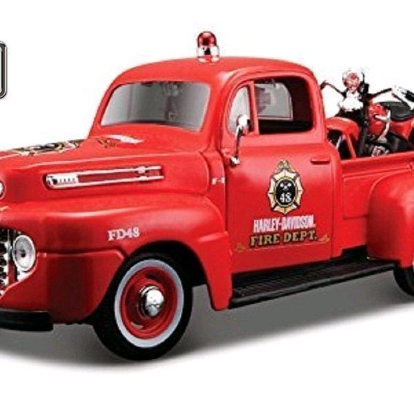 Maisto 1:24 Harley Ford 1948 FORD F-1 PICKUP 1936 EL KNUCKLEHEAD Motorcycle Bike Diecast Model Car Toy New In Box Free Shipping - $49.47 -What a day..this makes me happy and u? #me #metaltoys #onlineshopbabyandkidstoys #instadaily #colors #throwbackthursdayy #mind #toystyle #toptoys #disneytoys #babytoys #instacolor #toysdiscovery #1stoptoyshop #rainbowcolors #pin #maisto #ford