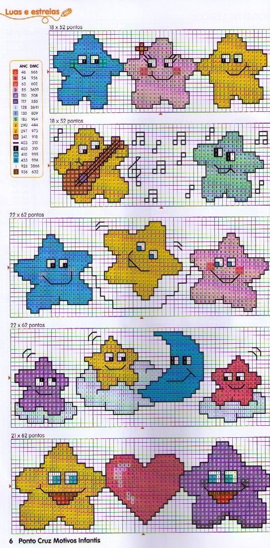 Stars Cross stitch