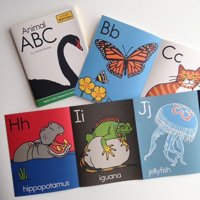 Animal ABC wall frieze - harrietbailey.com