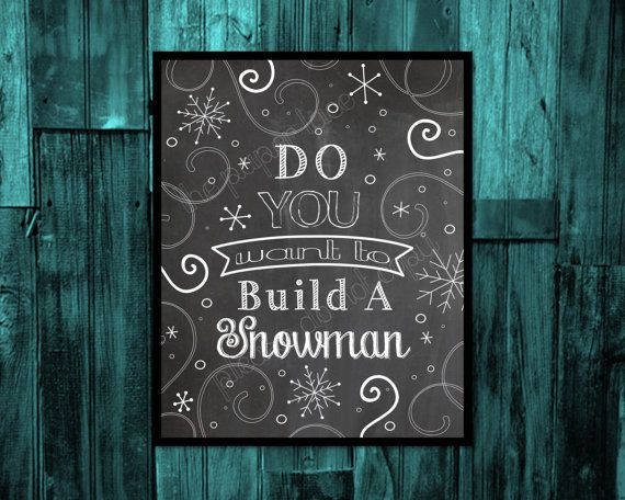 Frozen Wall Art, Frozen party decor, Frozen birthday, Do you want to build a snowman, kids room digital download printable, Olaf, FROZEN, $6.00